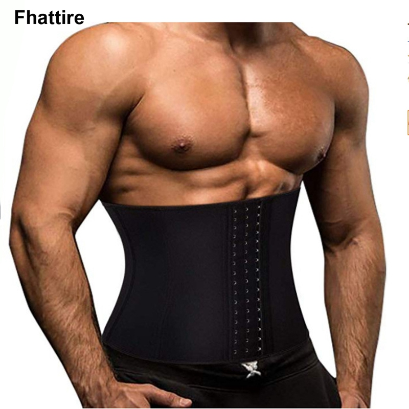 New Men's Waist Trainer Slimming Belt Belly Men Body Shaper Corset Abdomen Tummy Shaperwear Cincher Slim Girdle Black Belt