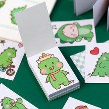Pegatina de papel para decoración, 50 Uds., creativo, pequeño dragón verde, Ablum, álbum de recortes diario, etiqueta adhesiva, papelería bonita
