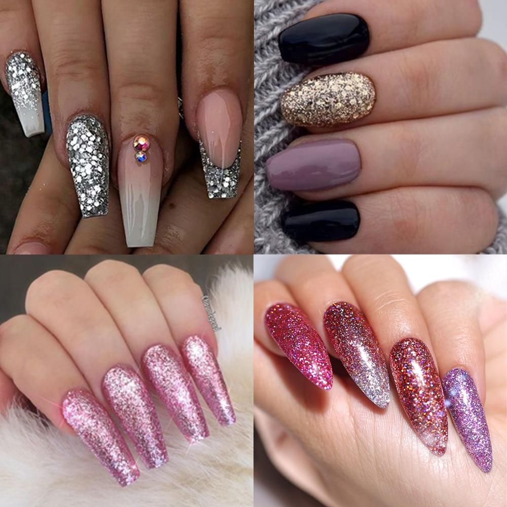 8ml nail glitter Sequins powder uv gel polish hybrid semi permanent soak off led nail gel varnish long lasting nail Lacquer 2