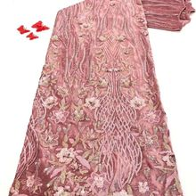 Lace-Fabric Sewing-Dress Velvet Wedding-French-Material Nigerian African High-Quality
