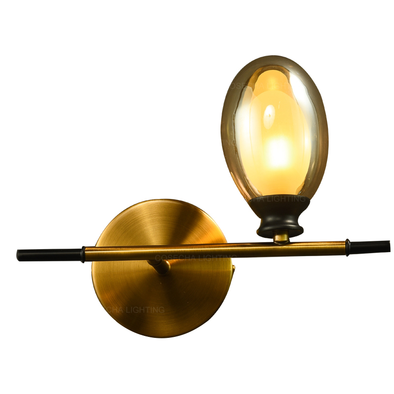 Antique Bronze Gold Wall Lamps With