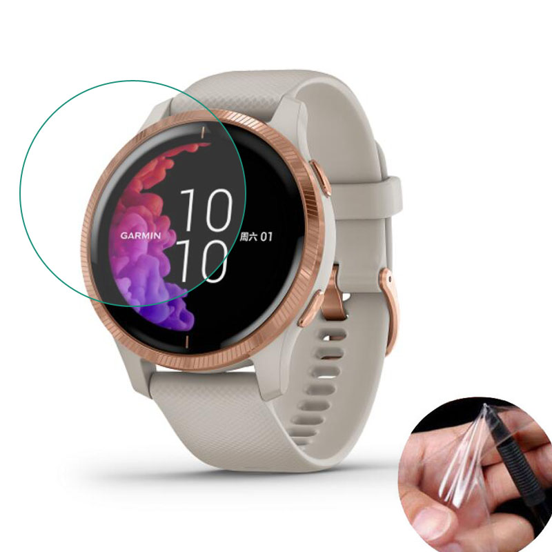 5pcs Soft Clear Protective Film Guard Protection For Garmin Venu Smart Watch Smartwatch Full Screen Protector Cover (Not Glass)