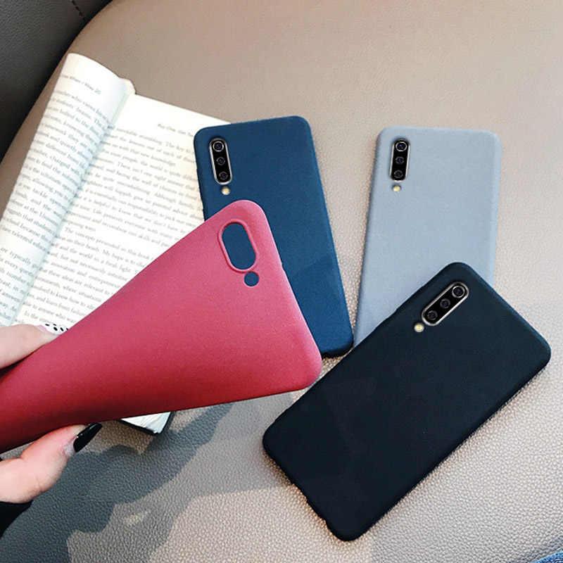 Para Xiaomi Poco F1 Slim de piedra arenisca de silicona TPU caso para Xiaomi CC9 9 SE 8 Lite SE A2 Redmi k20 Nota 7 6 6A PRO caso mate