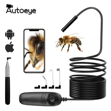 1200P Telescoping Wifi Endoscope Inspection Hard Cable IP68 Waterproof 2.0MP Wireless HD Snake Camera 8 LEDs For iOS Android