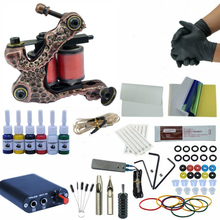 Complete Tattoo Kits Set Tattoo Machine Power Supply Tattoo Kits Wrap Coils Guns Tattoo Machine Supplies For Starters complete tattoo kits 8 wrap coils guns machine 1 6oz black tattoo ink sets power supply disposable needle free shipping