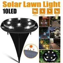 10 LED New Solar Light Garden Lawn Lamp Solar Power Buried Light Under Outdoor Path Way Garden Decking Street Lights(China)