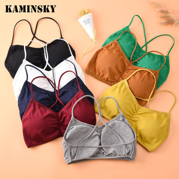 Kamisnky Girls Cross Beauty Back Sexy Bra Detachable Gather Bra Push Up Elastic Breathable Women Bra Girls Training Bras image