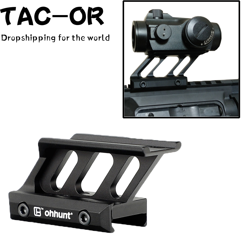 Tactical Mil-spec T1 Red Dot Mount Raise Scope Sight Mount Adapter for Hunting Airsoft T1 / T-1 / T2 / T-2 /TR02 Dropshipping image