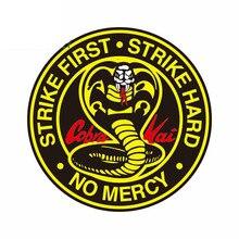 Cobra kai círculo logotipo grande cobra decalque fino à prova drv água adequado para van rv vinil etiqueta do carro decorationcar acessórios kk13 * 13cm