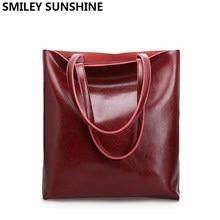 בציר אמיתי אמיתי עור גדול תיקי נשים יד שקיות נשי Shopper Hangbags גבוהה איכות משרד גבירותיי כתף שקיות 2020
