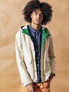 Image 4 - SIMWOOD 2020 wiosna nowa modna kurtka mężczyźni szorty kurtki okazjonalne 100% płaszcze bawełniane kieszeń wysokiej marka jakości odzież 190092