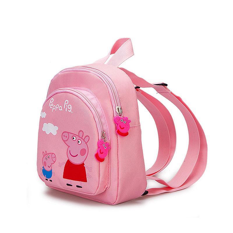 펫빠 돼지 만화 pecs 조지 귀여운 아기 배낭 남자와 여자 핑크 돼지 어린이 schoolbag 미니 schoolbag 핑크 지갑 스낵 백