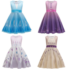2020 Elsa Dress for Girl Princess Dresses Costumes For Children Fancy Party Anna Elza Role-play Birthday Baby Girls Clothes 3-8T new summer princess elsa dress for girls baby anime birthday party dresses elza costume kids girl vestido clothing 3 8t pink