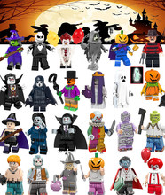For Halloween Scream Killer Horror Theme Ghost Figures Freddy Mask Hunter-Black Jack Friday Jason Vampire building blocks Toys(China)