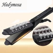 Fer à lisser plat pour cheveux pour femmes, fer à friser professionnel, ionique, fer à friser, coupe sèche et humide