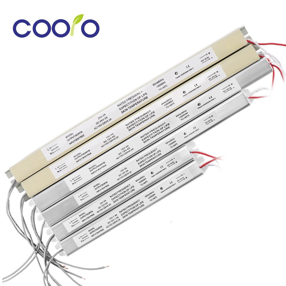 Ультратонкий источник питания 12 В 220 А 2 А 3 А 4 а 5 А импульсный трансформатор для светодиодного драйвера освещения в 12 В 24 в 18 Вт 24 Вт 36 Вт 48 Вт 60...