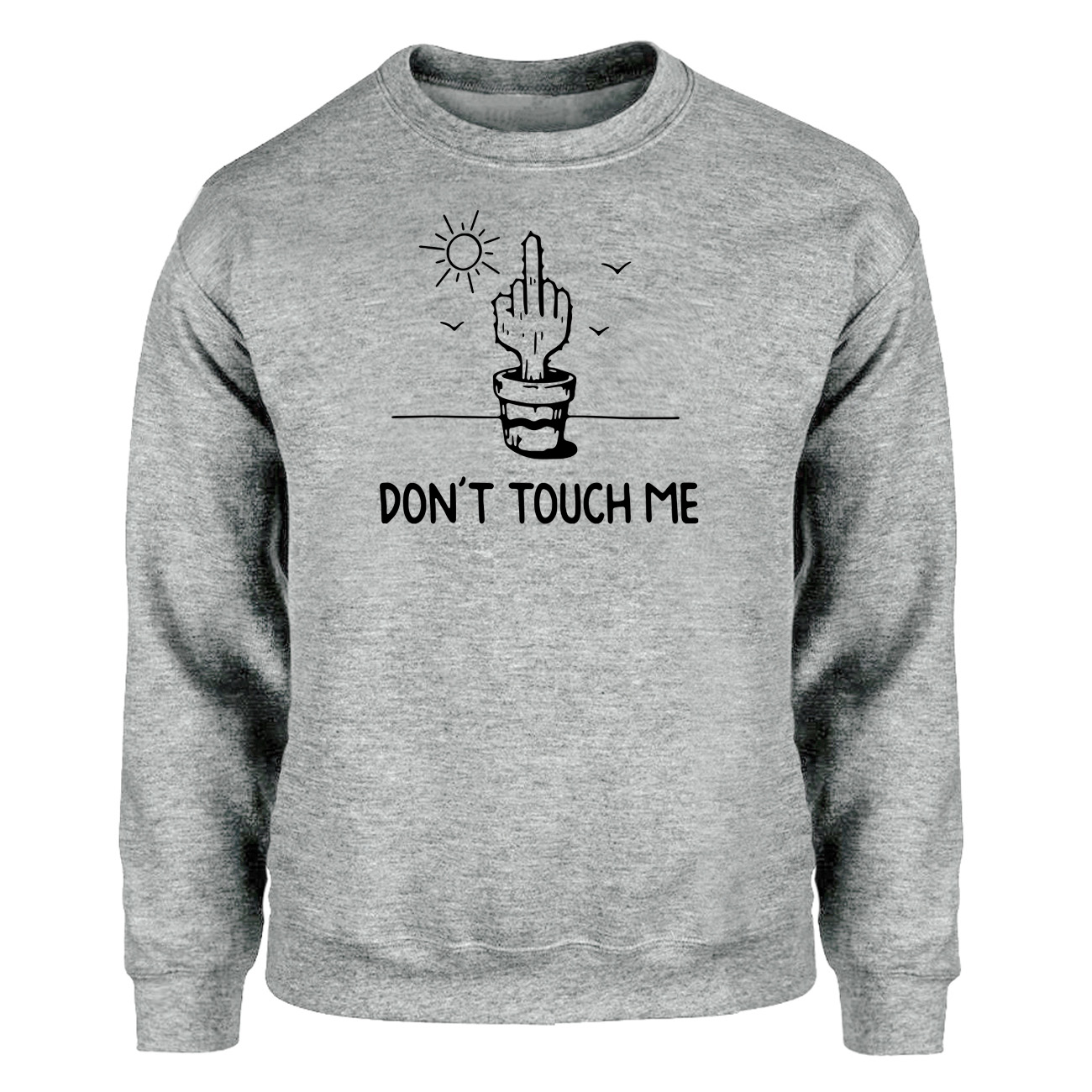 Cactus Don't Touch Me Funny Sweatshirt Men Crewneck Hoodies Sportswear Mens 2019 Winter Autumn Fitness Workout Print Streetwear
