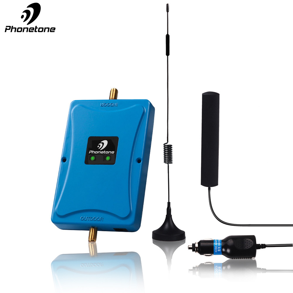 GSM Repeater 2G EGSM 900/1800MHz Car Use Mini Cell Phone Signal Booster 45dB Cellular Voice Band 8 Band 3 Amplifier Antenna Set