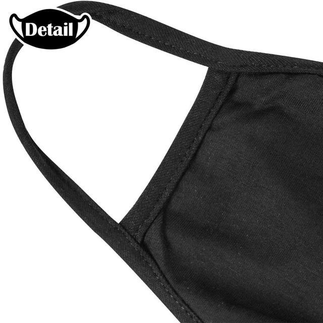 AMG Sports Car Logo Black Printing Washable Breathable Reusable Cotton Mouth Mask 3