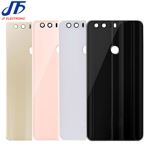 Image 3 - 5 pcs/lot back Glass Rear Housing Cover Replacement For HUAWEI For Honor 8 lite Back Door Hard Battery case + Adhesive sticker