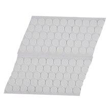 50 Pairs Magic Sticky Self Adhesive Buckle Hook Loop Round Pads Craft Tape White