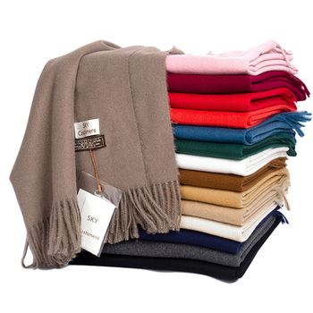 Winter Soft Warm Cashmere Scarf For Women Wool Scarves Khaki Winter Poncho Black Men's Cashmere Scarfs Female Shawl Red Pashmina [aetrends] winter poncho vintage lace design women s cape shawl cashmere feel scarfs for ladies z 6547