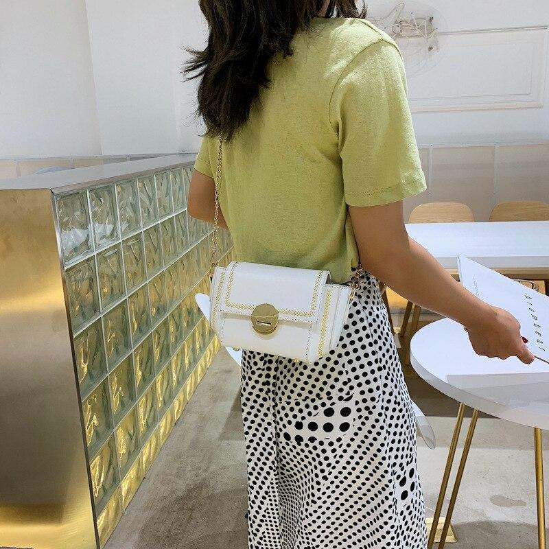 The New Chain Bag 2019 Women Bag Wheat Ear Sewing Thread Slung Korean Version Shoulder Bag