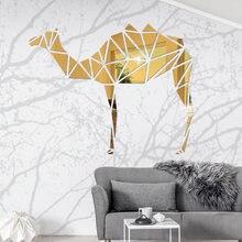 Animal créatif 3D acrylique Stickers muraux chambre salon décoration maison Art Stickers amovible bricolage affiche autocollant adesivi mur