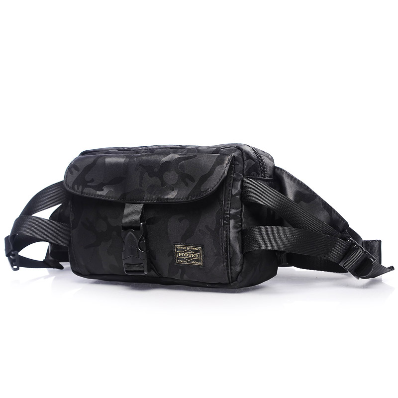 Head Porter Waist Packs Men Women High Quality Waist Pack Nylon Waterproof Head Porter Bag 24.5/15.5/8.5 Cm Japan