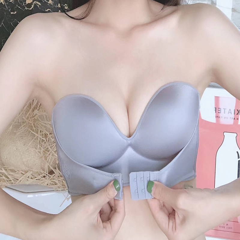 Sexy Strapless Bra Women Invisible Bras Push Up Lingerie Backless Brassiere Seamless Bralette Underwear For Wedding Dress #F