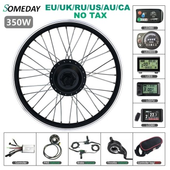 цена на SOMEDAY Electric Bicycle Conversion Kit 36V 48V 350W 16 20 24 26 27.5 28 Inch 700C Front Gear Hub Wheel Motor for Ebike