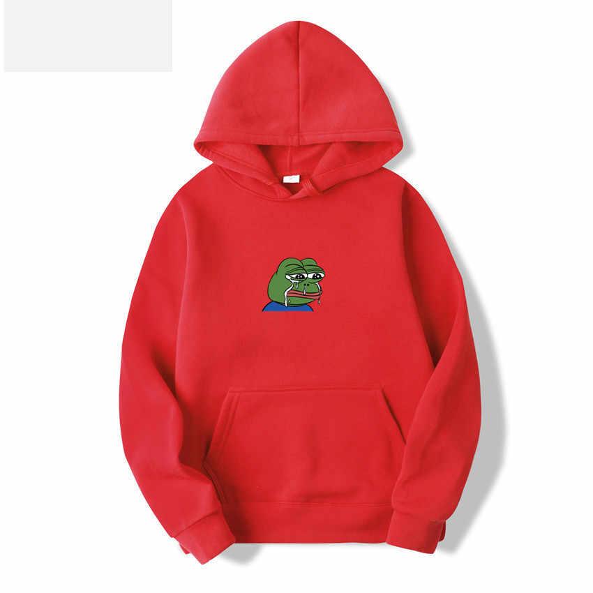 Sad การฉีกขาดกบพิมพ์ผู้ชาย Hoodies เสื้อ 2020 แฟชั่นขนแกะ Harajuku Hip Hop Hooded Sweatshirt ชายญี่ปุ่น Hoodie Hoody