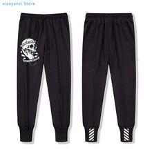 2020 cool skull print men sweatpants casual sports long pants men trousers male