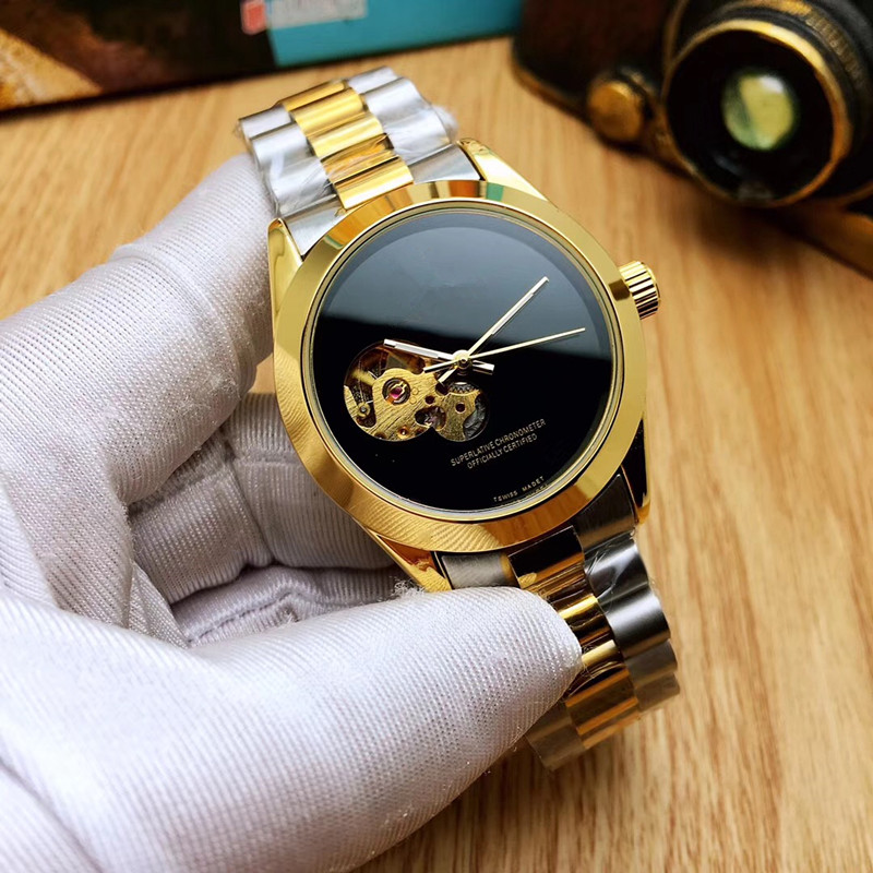Automatic Mechanical Watch Men Gold Mens Watches Top Brand Luxury Waterproof aaa Watch Male Clock Men Relogio Masculino