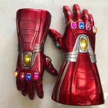 1: 1 LED Light 4    Stone Cosplay Gloves Tony Stark Superhero Cosplay Props PVC Kid Gift