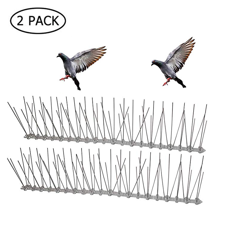 Stainless Steel Plastic Bird And Pigeon Spikes Anti Bird Anti Pigeon Spike For Get Rid Of Pigeons And Scare Birds Pest Control
