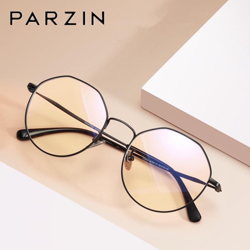 PARZIN Titanium Computer Glasse Anti Blue Light Glass Men Reading Goggles Protection Eyewear Eyeglasses Spectacles Gaming Women