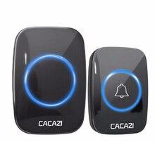 CACAZI 60 Chime 110DB  Wireless Doorbell Waterproof 300M Remote EU UK US Plug Smart Door Bell Battery