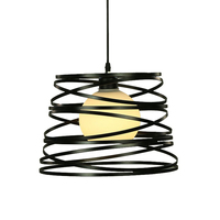 LED Pendant Lights Modern Forma spiral Single Head Iron Art Hanging Lamp Restaurant Kitchen Coffee House Lighting Fixtures