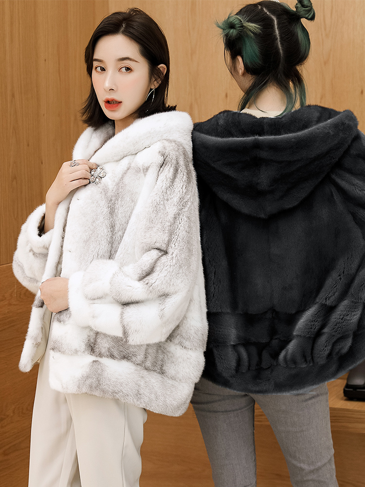 Mink Real Coat Female Luxury Natural Fur Coats Winter Jacket Women Hooded Warm Jackets For Women Clothes 2020 MY4123 S S