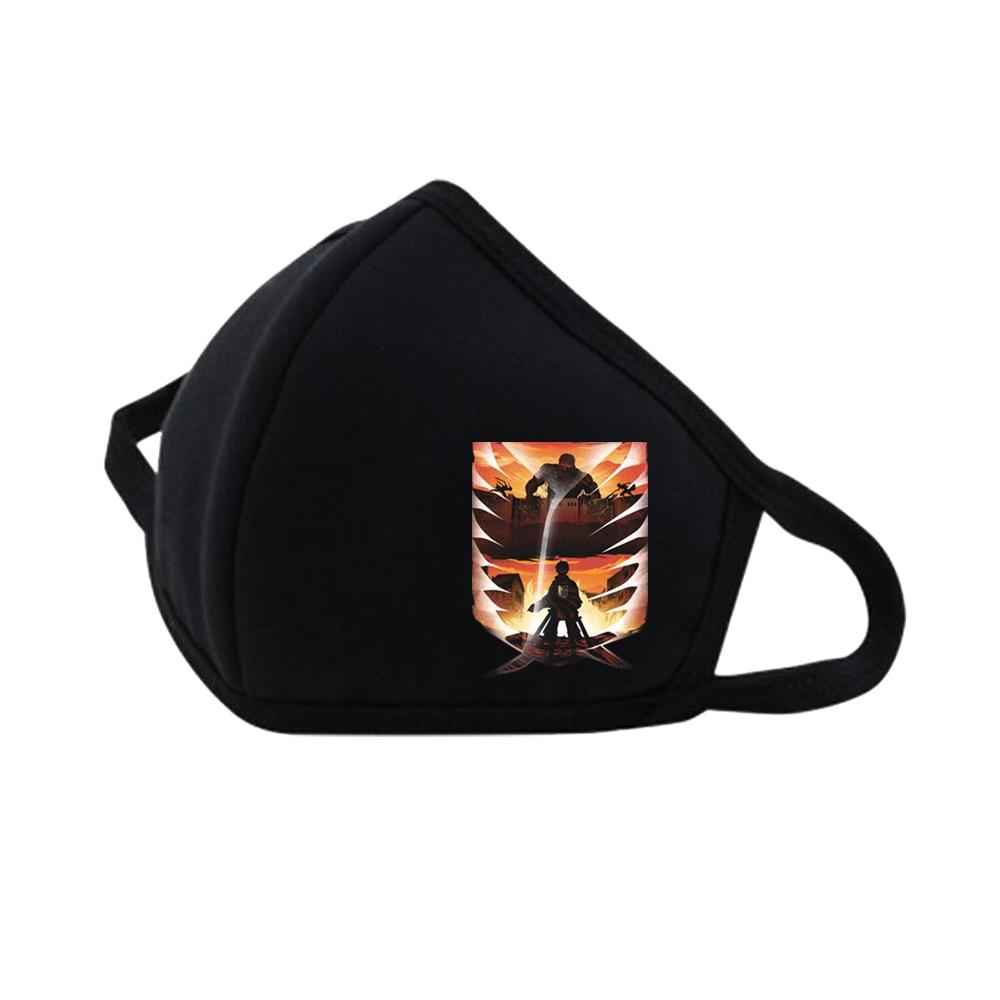 Anime Shingeki No Kyojin Mouth Face Mask Dustproof Breathable Women Men Muffle Face Mouth Party Masks