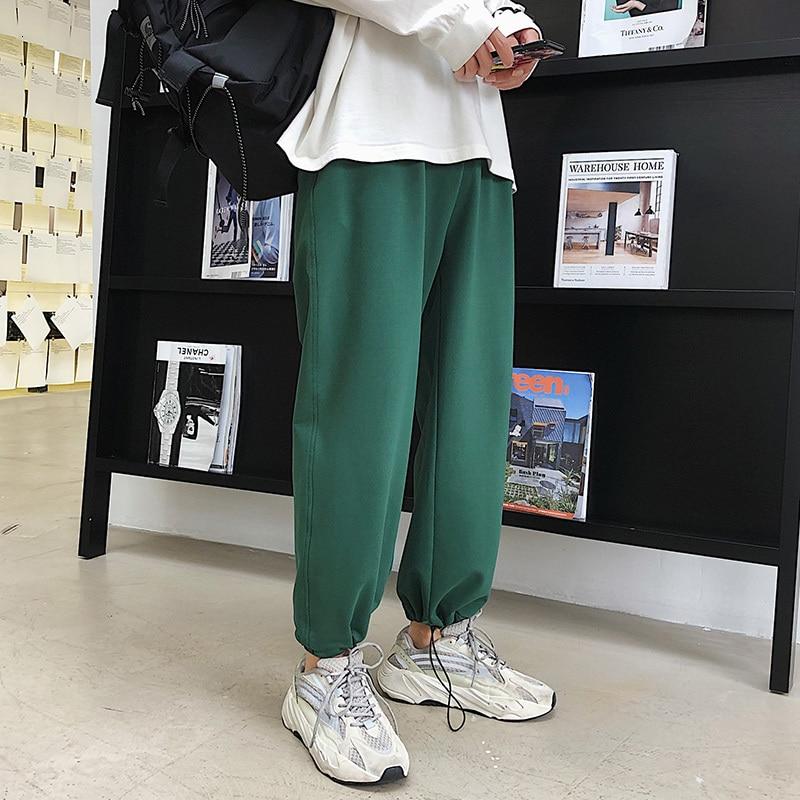 Autumn New Pants Men Fashion Solid Color Casual Straight Trousers Man Streetwear Wild Hip Hop Loose Joggers Sweatpants M-2XL