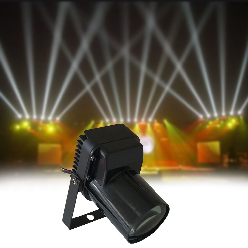 New Professional 5W LED Spotlight Pin Spot Lamp Beam White Spot Stage Beam Lighting Fit For Disco / Beam / DJ / Party