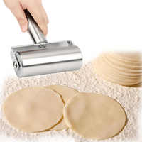 Stainless Steel Rolling Pin Pastry Pizza Fondant Bakers Roller Metal Kitchen Tool For Baking Dough Pizza Cookies Cooking Tool