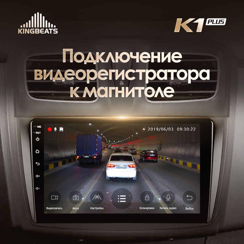 KingBeats 4G Dash araba radyo multimedya Video oynatıcı navigasyon GPS Renault Logan için 2 2012 - 2019 Sandero 2 2014 - 2019