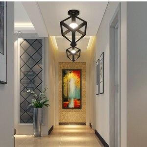 Image 3 - シーリングライト現代の天井ランプメタルロフト装飾ランプ工業用スタイル家庭の照明の寝室キッチンリビングルーム照明器具