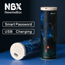 Nbxコード化されたロックパスワードのためのペンケース多機能筆箱プラスチックかわいい文房具透明学用品女の子
