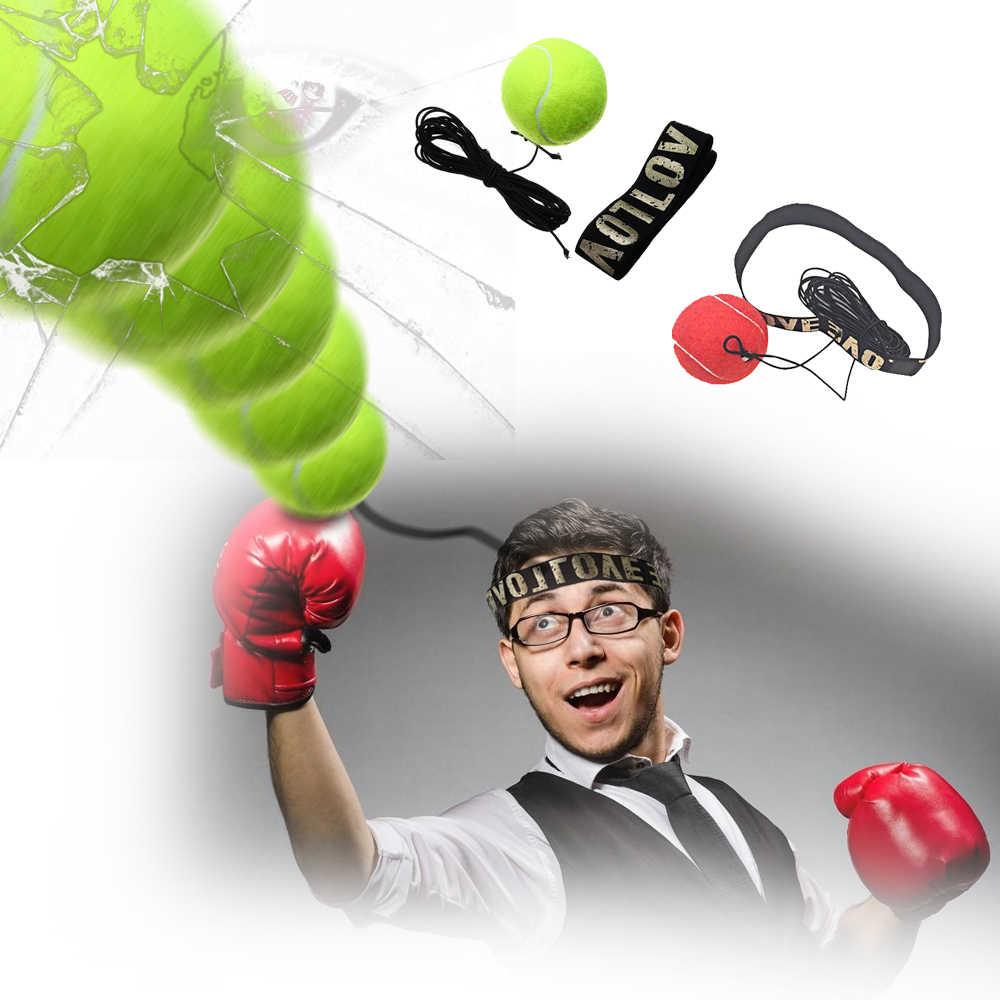 Tinju Refleks Kecepatan Pukulan Bola Mata Pelatihan Set Stres Home Gym Tinju Peralatan Boxer Meningkatkan Reaksi Force Tangan