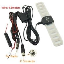 Универсальное автомобильное Цифровое ТВ Радио 2 в 1 Автомобильная антенна автомобильная радио воздушная антенна усилитель F разъем для автомобильных внешних частей