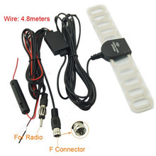 Universal Car Digital TV Radio 2 In 1 Antenna Aerials Amp Booster F Connector For Exterior Parts